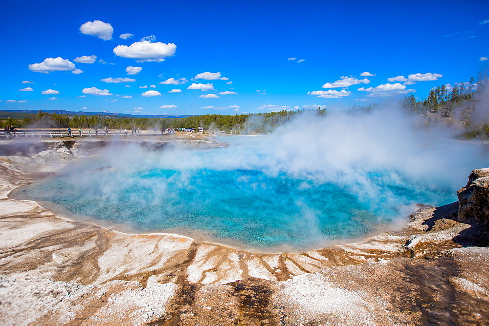 Rainbow Geyser, Yellowstone National Park, UNESCO World Heritage Site, Wyoming, United States of America, North America - 1218-769