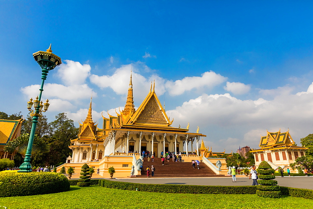 Temples at the Royal Palace in Phnom Penh, Cambodia. - 1218-855