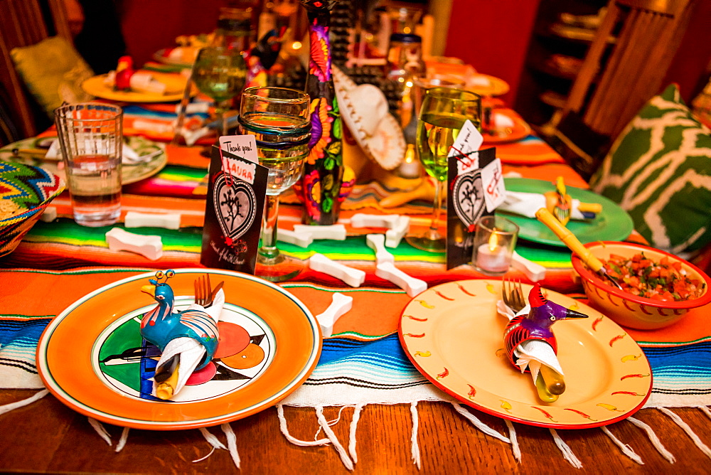 Day of the Dead themed dinner and celebration in the desert.