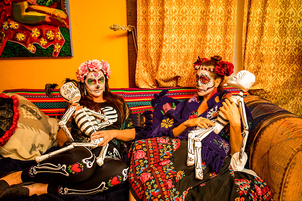 Day of the Dead celebration in the desert, California, United States of America, North America