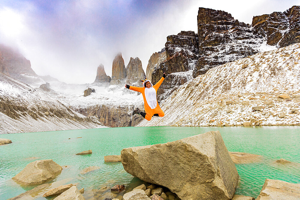 Enjoying the beautiful scenery in our andean fox onesies! - 1218-973