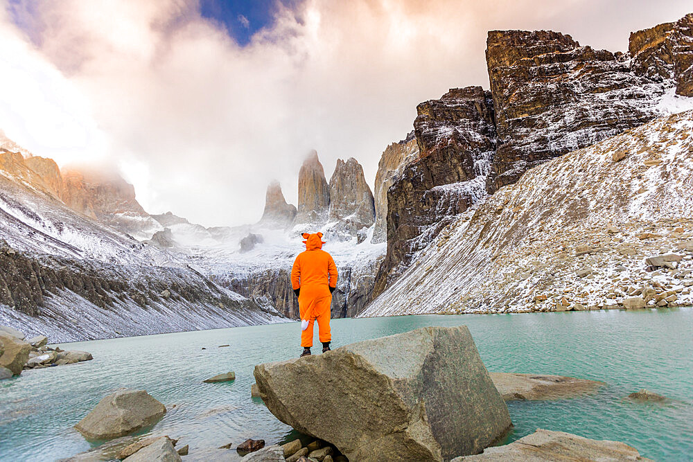 Enjoying the beautiful scenery in our andean fox onesies! - 1218-975