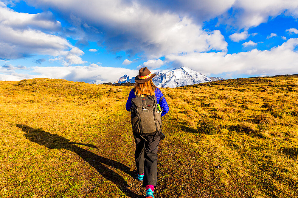 Enjoying the beautiful scenery of Torres del Paine National Park, Patagonia, Chile - 1218-982