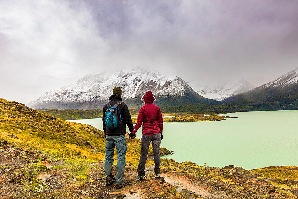 Enjoying the peaceful and beautiful scenery of Torres del Paine National Park, Patagonia, Chile - 1218-985