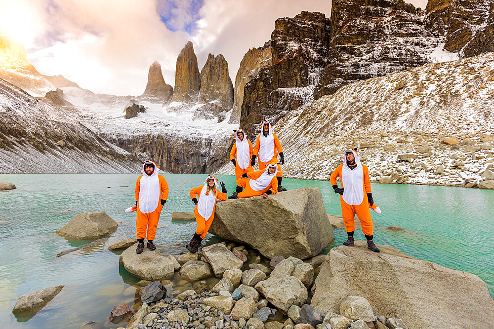 Enjoying the beautiful scenery in our andean fox onesies! - 1218-990