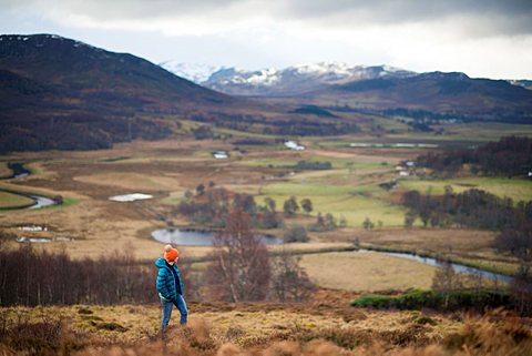 Walking near Newtonmore in the Cairngorms national park in Scotland