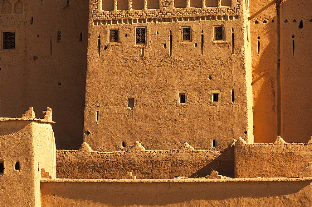 Ancient kasbah in Ouazarzate, southern Morocco, North Africa, Africa