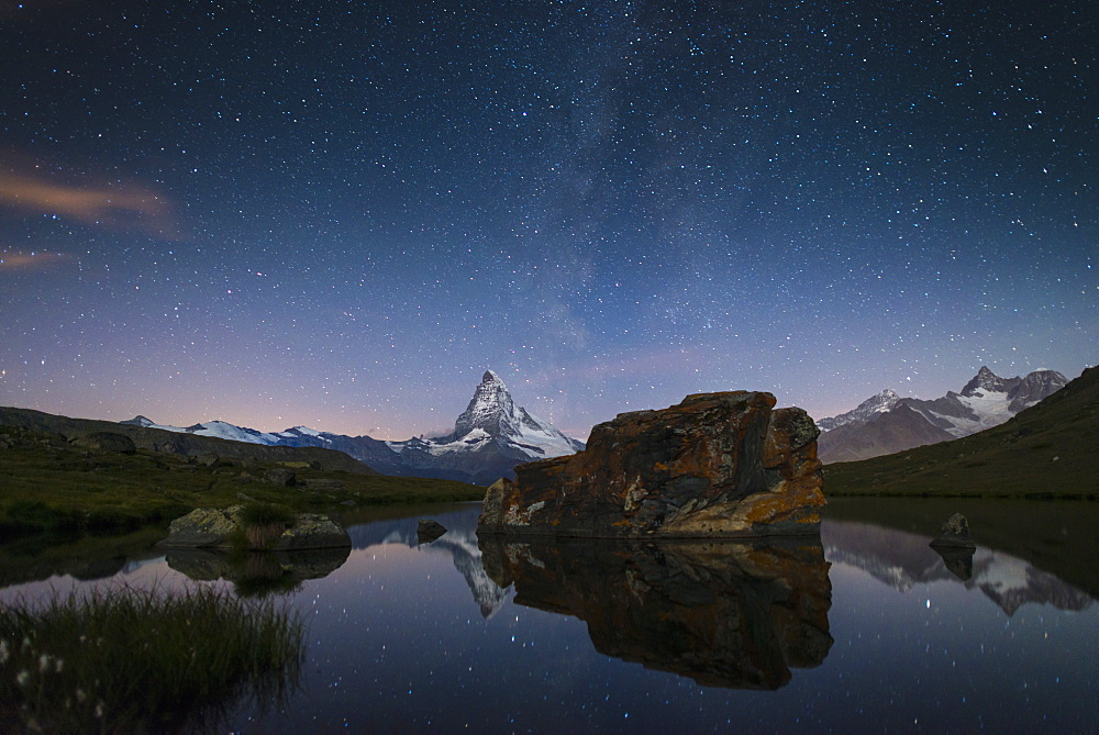 The Matterhorn from Stellisee lake in the Swiss Alps - 1225-1273