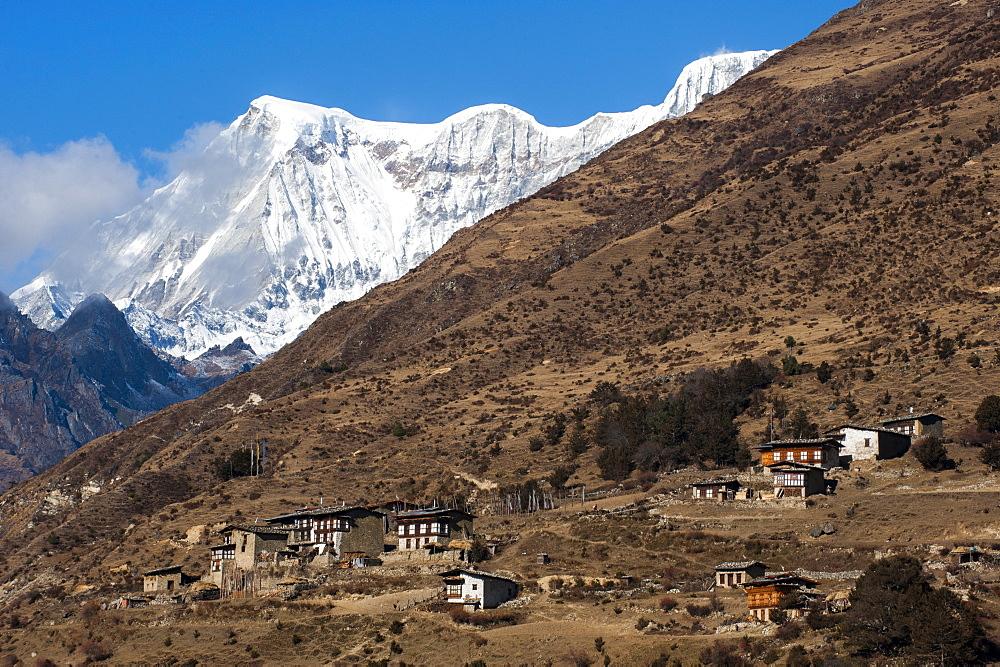 The beautiful village of Laya in the Himalayas, Bhutan, Asia