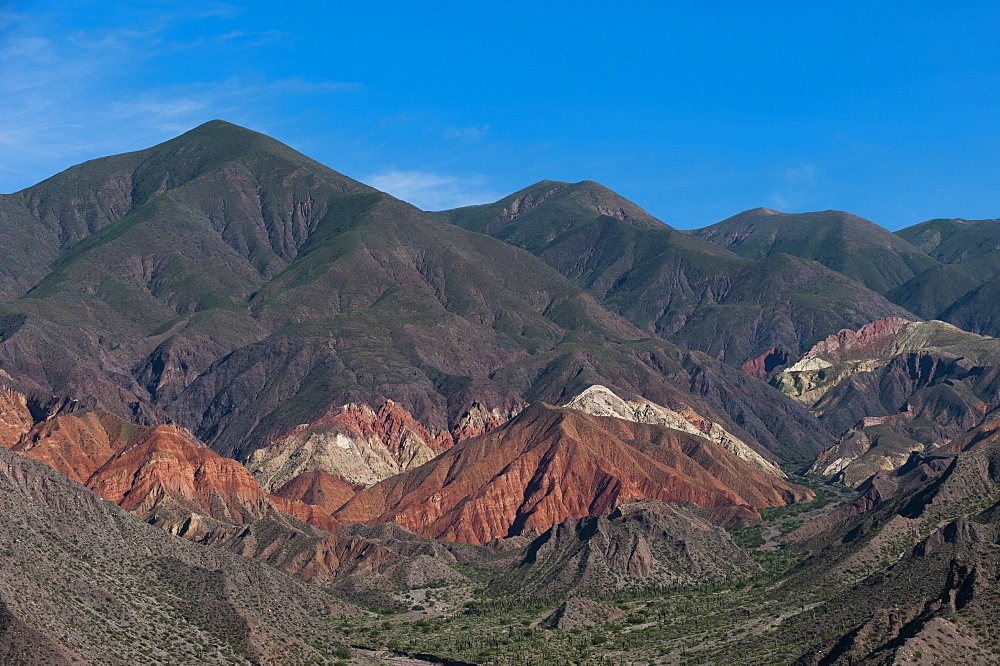 Nature works its magic with stone, Jujuy province famous for its extraordinary palette of colors, Jujuy, Argentina, South America