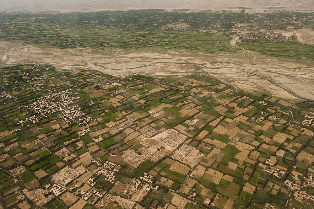 Afghanistan landscape from the Herat-Kabul flight, Afghanistan, Asia