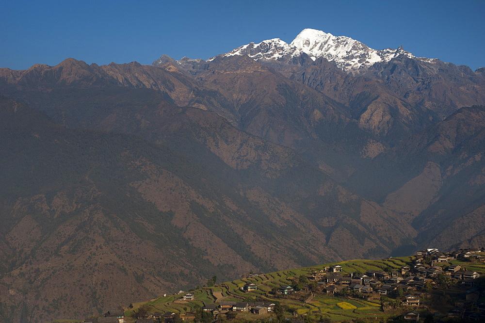 Barpak, the biggest settlement during the Manaslu circuit trek, Nepal, Himalayas, Asia