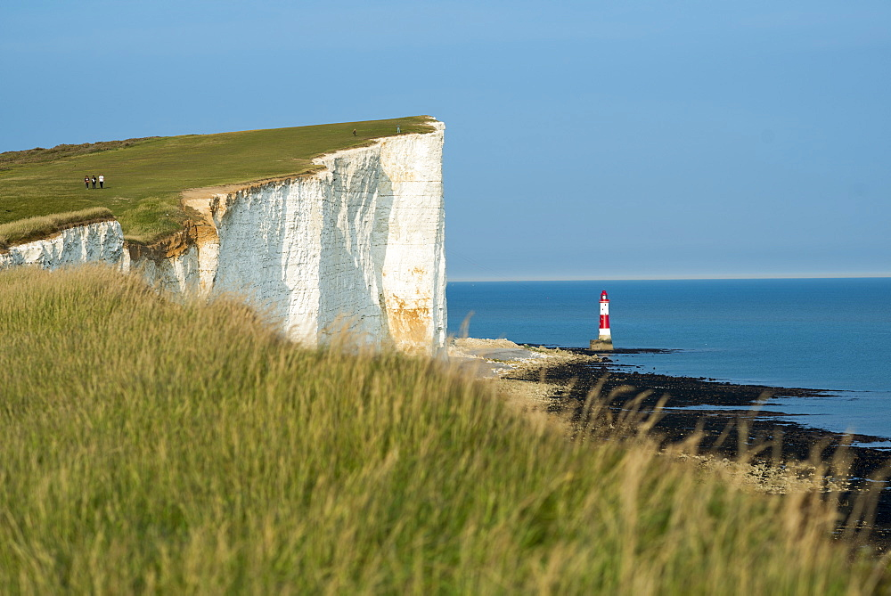 The lighthouse at Beachy Head in Sussex in England