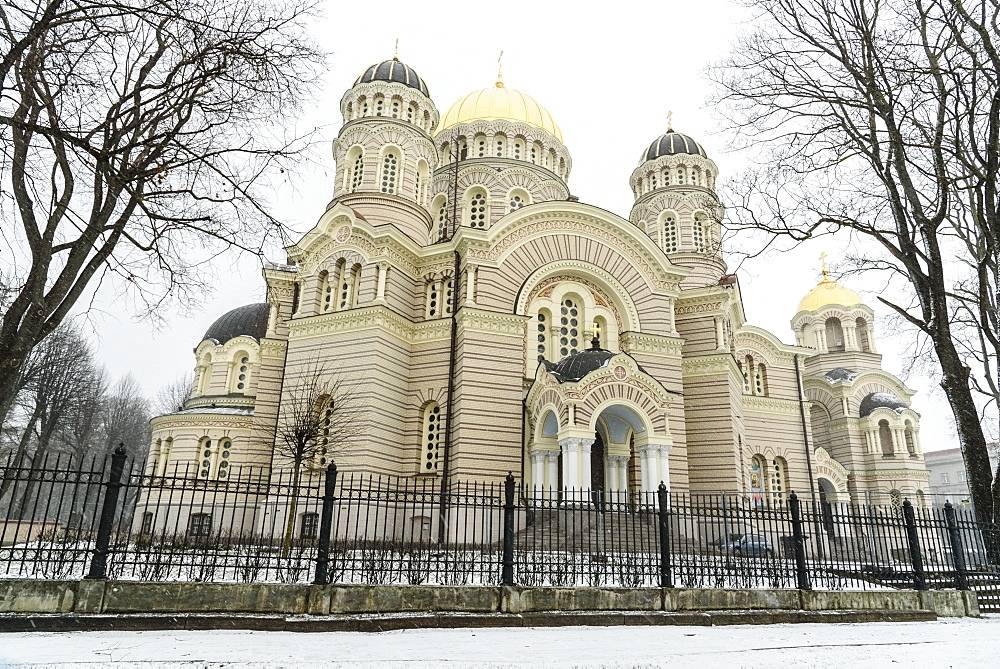 Nativity of Christ Cathedral, Russian Orthodox, Riga, Latvia, Europe