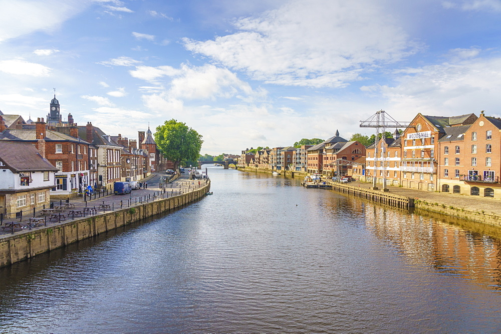 The River Ouse runs through the historic city of York, North Yorkshire, England, United Kingdom