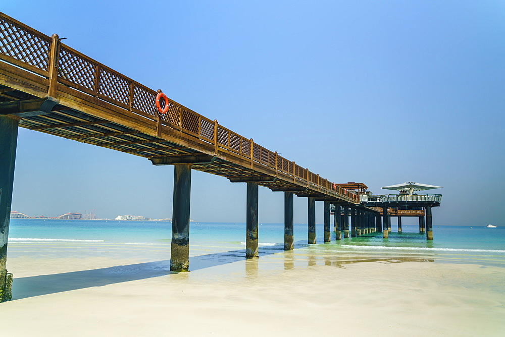 A pier on Jumeirah beach, Dubai, United Arab Emirates, Middle East