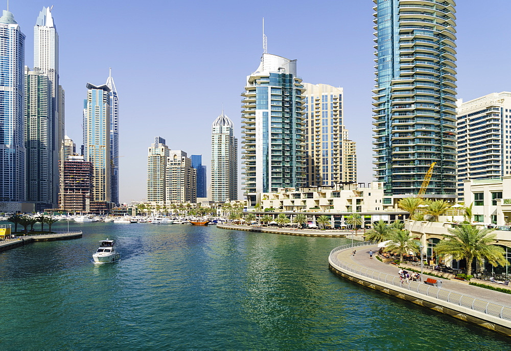 Dubai Marina, Dubai, United Arab Emirates. Middle East