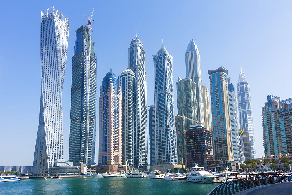 Skyscrapers, Dubai Marina, Dubai, United Arab Emirates, Middle East