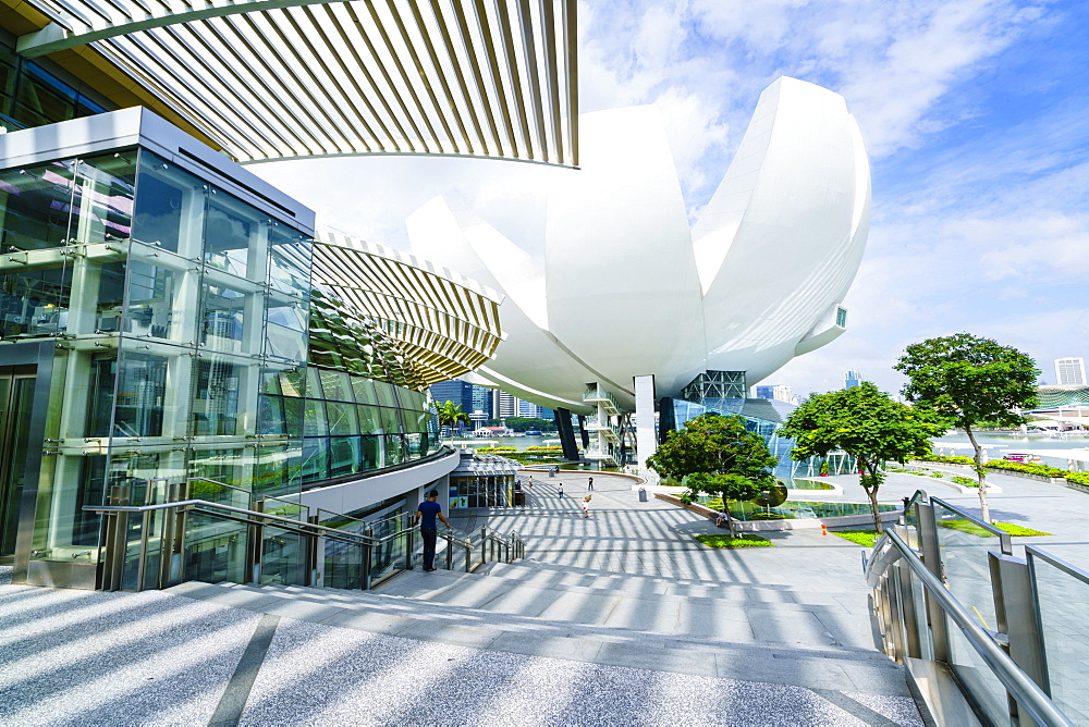 The Shoppes at Marina Bay Sands and ArtScience Museum, Marina Bay, Singapore, Southeast Asia, Asia