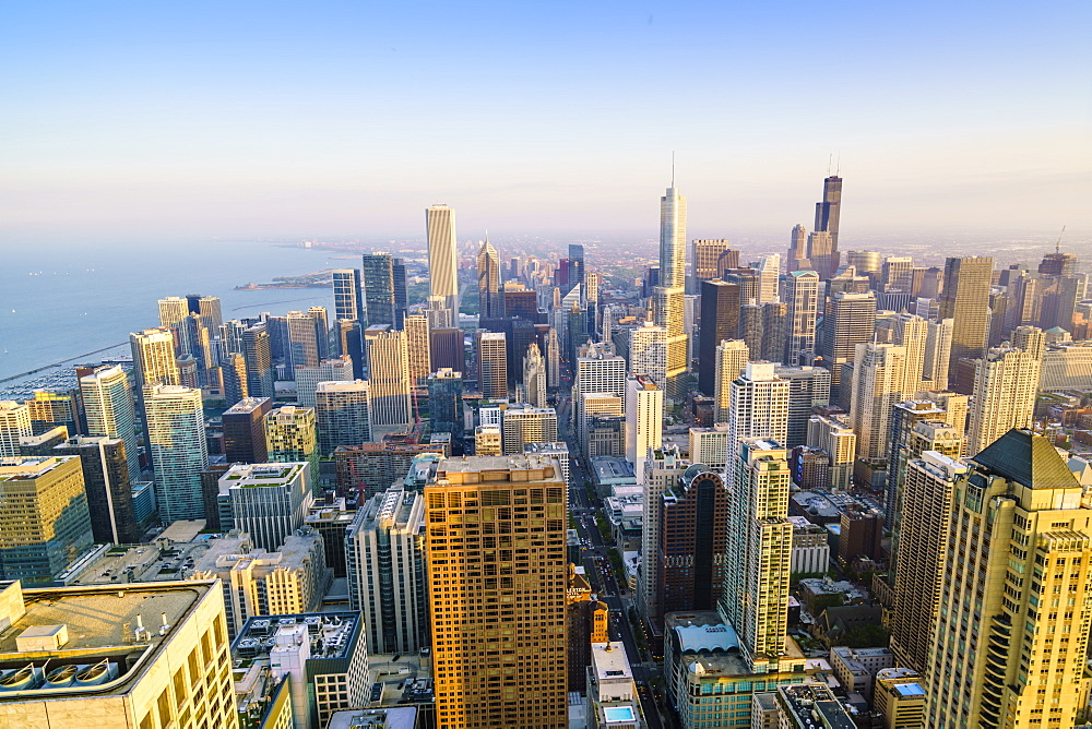 City skyline, Chicago, Illinois, United States of America, North America