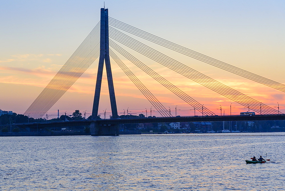 Vansu Bridge, Daugava River, Riga, Latvia, Europe