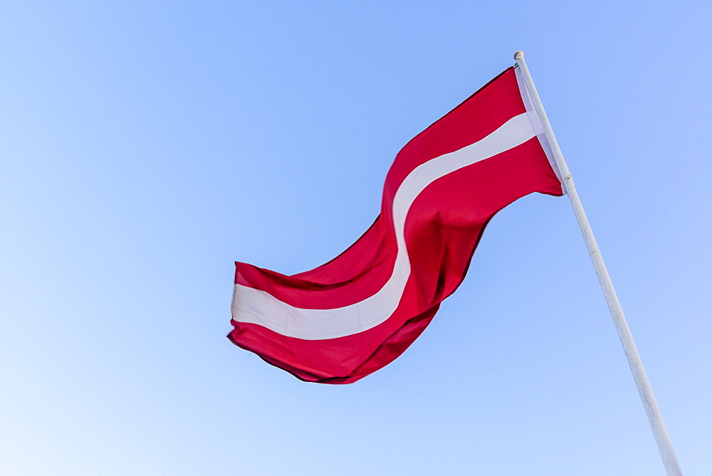 Latvian national flag, Riga, Latvia, Europe