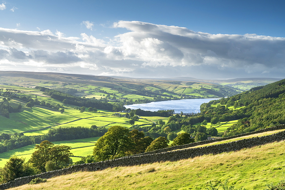Gouthwaite Reservoir in Upper Nidderdale, The Yorkshire Dales National Park, Yorkshire, England, United Kingdom, Europe