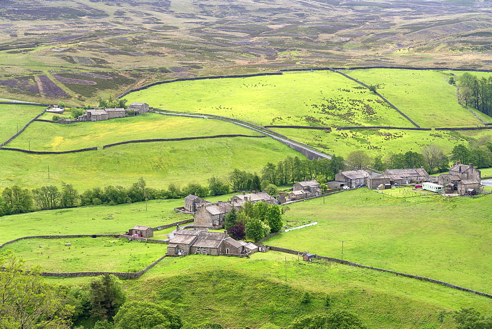 Arkle Town hamlet near Langthwaite in Arkengarthdale, The Yorkshire Dales National Park, UK.