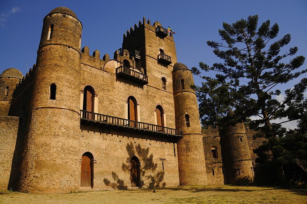 Fasilides Castle in Gondar, Ethiopia, Africa - 1235-10