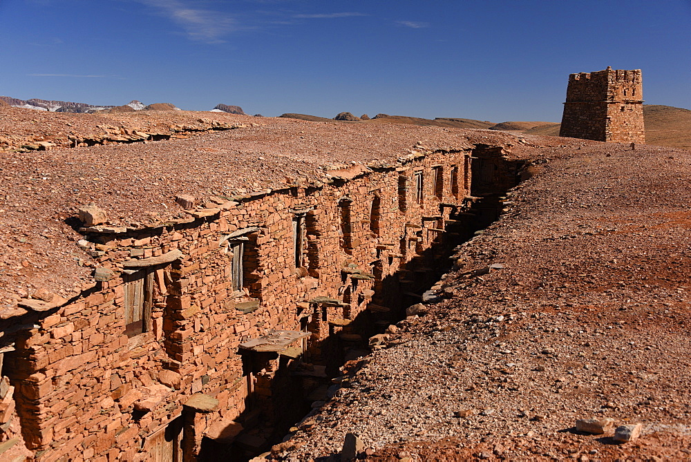 Berber granary, Agadir Tashelhit, in the form of a fortress, Anti-Atlas mountains, Morocco, North Africa, Africa