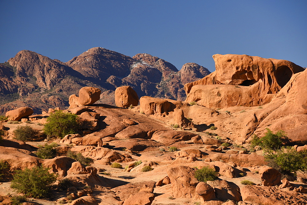 Rock formations around Tafraout, Morocco, Africa - 1235-27