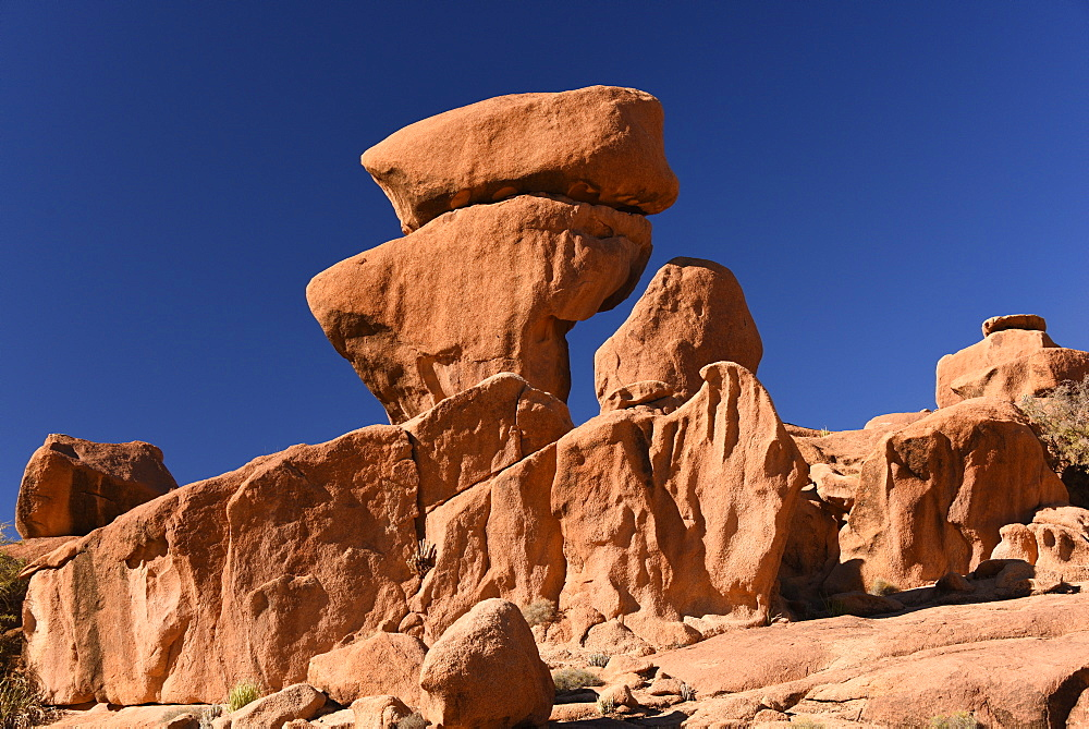 Rock formations around Tafraout, Morocco, Africa