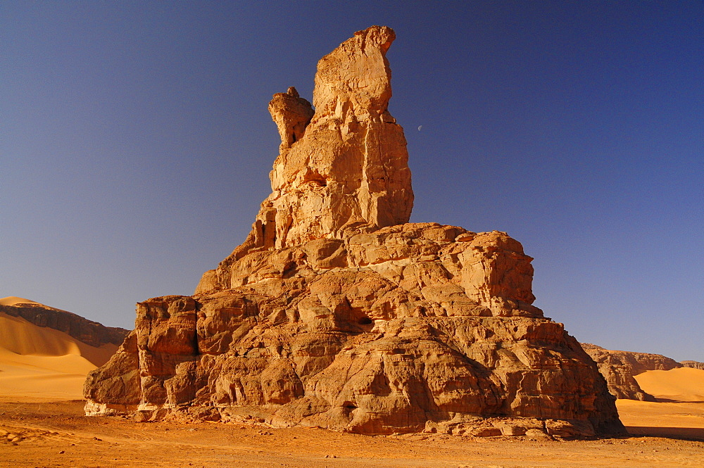 Rock formation in Tadrart, Sahara desert, Algeria, Africa - 1235-5