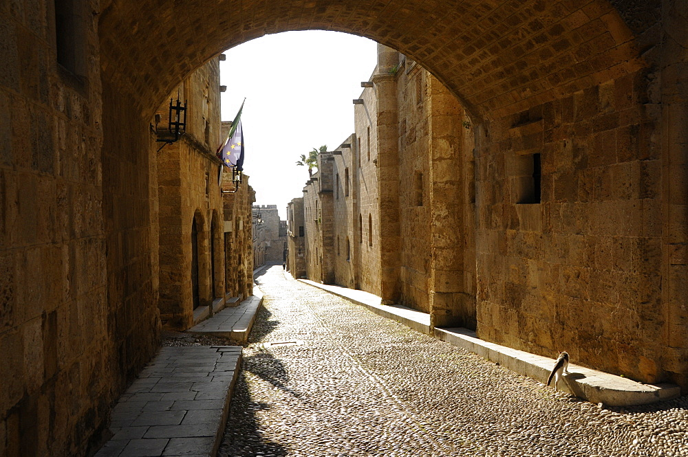 Knights Street in Rhodes, Rhodes Island, Dodecanese, Greek Islands, Greece, Europe - 1235-8
