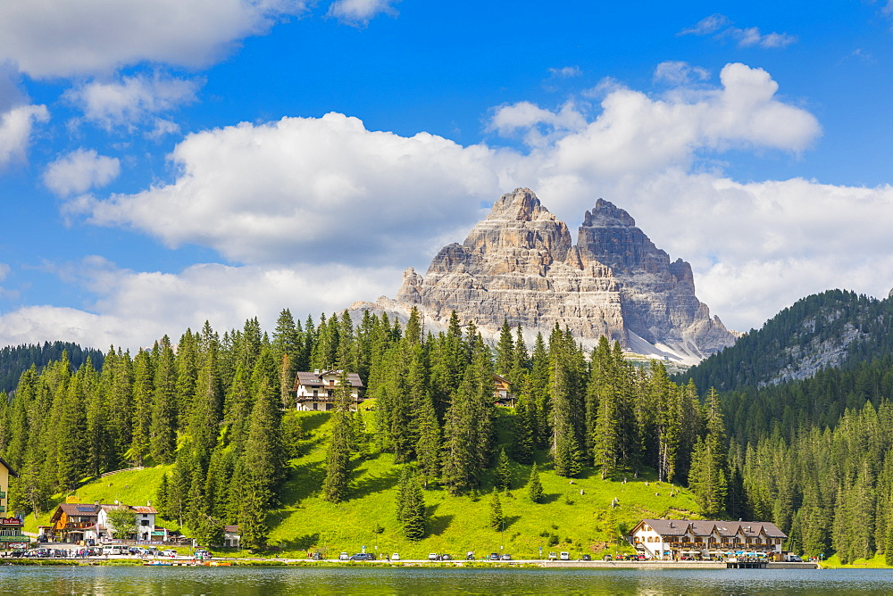 Tre Cime di Lavaredo, UNESCO World Heritage Site, Lake Misurina, Province of Belluno, Veneto, Italy, Europe