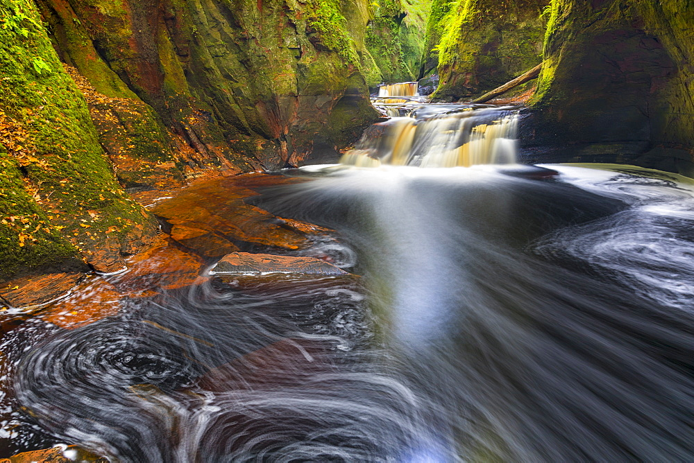 Gorge at The Devil's Pulpit, Finnich Glen, Scotland, United Kingdom, Europe.