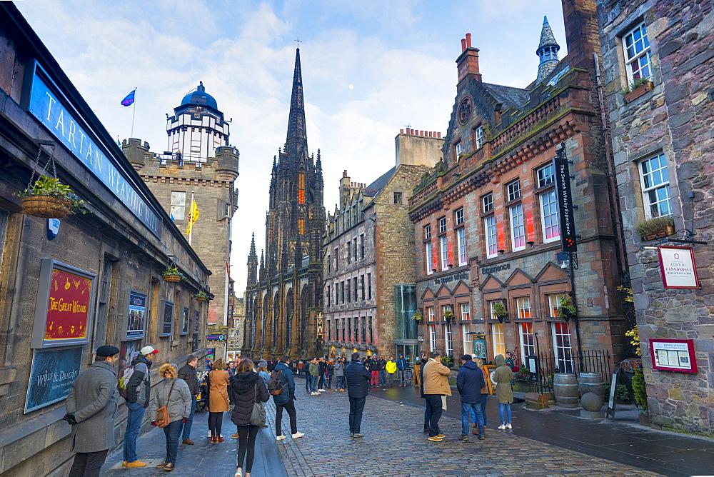 Castlehill, The Royal Mile, Old Town, Edinburgh, Lothian, Scotland, United Kingdom, Europe - 1237-340