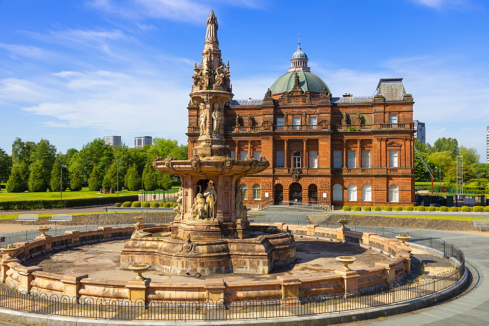 People's Palace and Doulton Fountaion, Glasgow Green, Glasgow, Scotland, United Kingdom, Europe - 1237-355