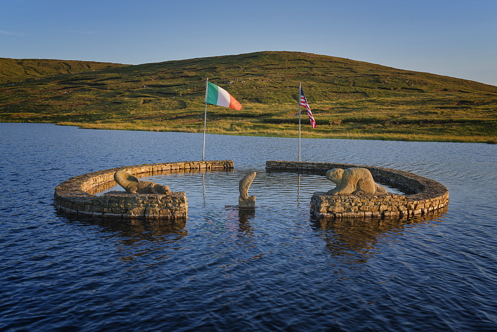 Beaver Island Memorial, Arranmore Island, County Donegal, Ulster, Republic of Ireland, Europe - 1240-242