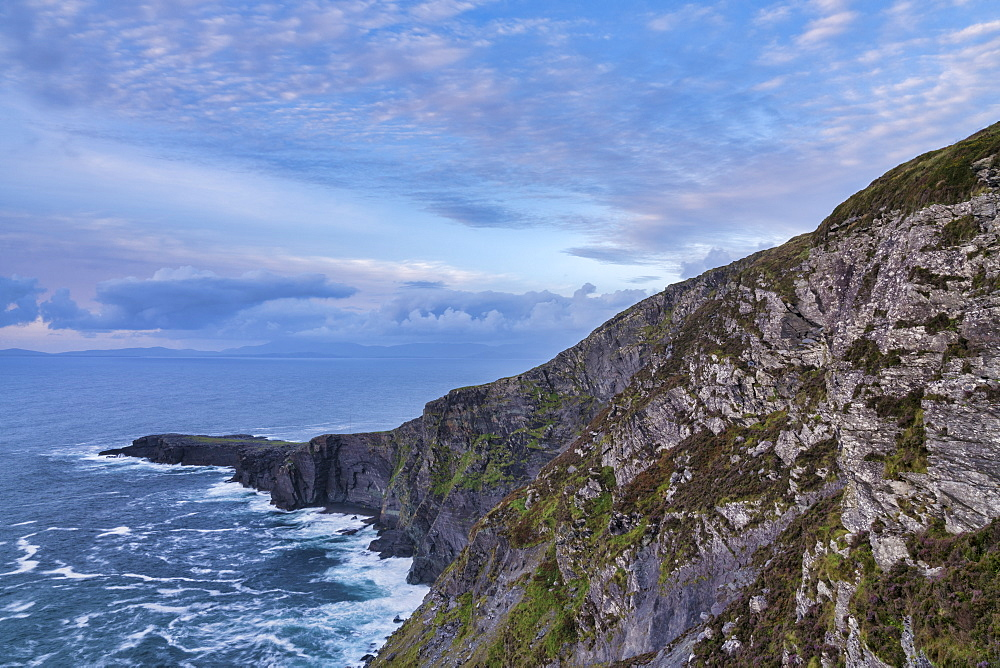 Fogher Cliffs, Valentia Island, County Kerry, Munster, Republic of Ireland, Europe - 1240-258