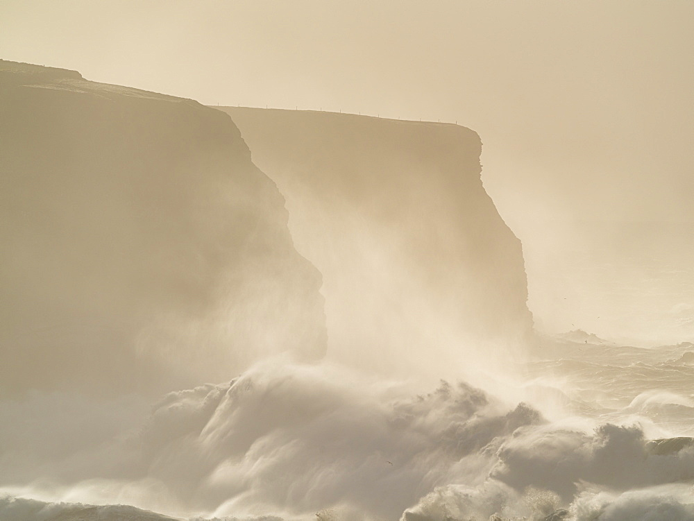 Storm surge, Loop Head, County Clare, Munster, Republic of Ireland, Europe - 1240-364