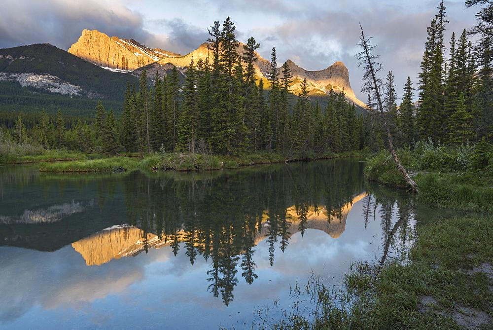 Ha Ling Peak sunrise at Policeman Creek, Canmore, Alberta, Canada
