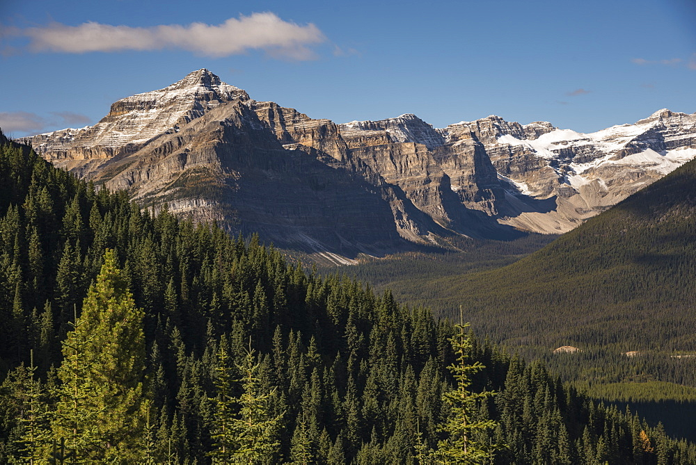 Looking toward Mount Bell from the Arnica Lake Trail, Banff National Park, UNESCO World Heritage Site, Alberta, Canadian Rockies, Canada, North America - 1241-249