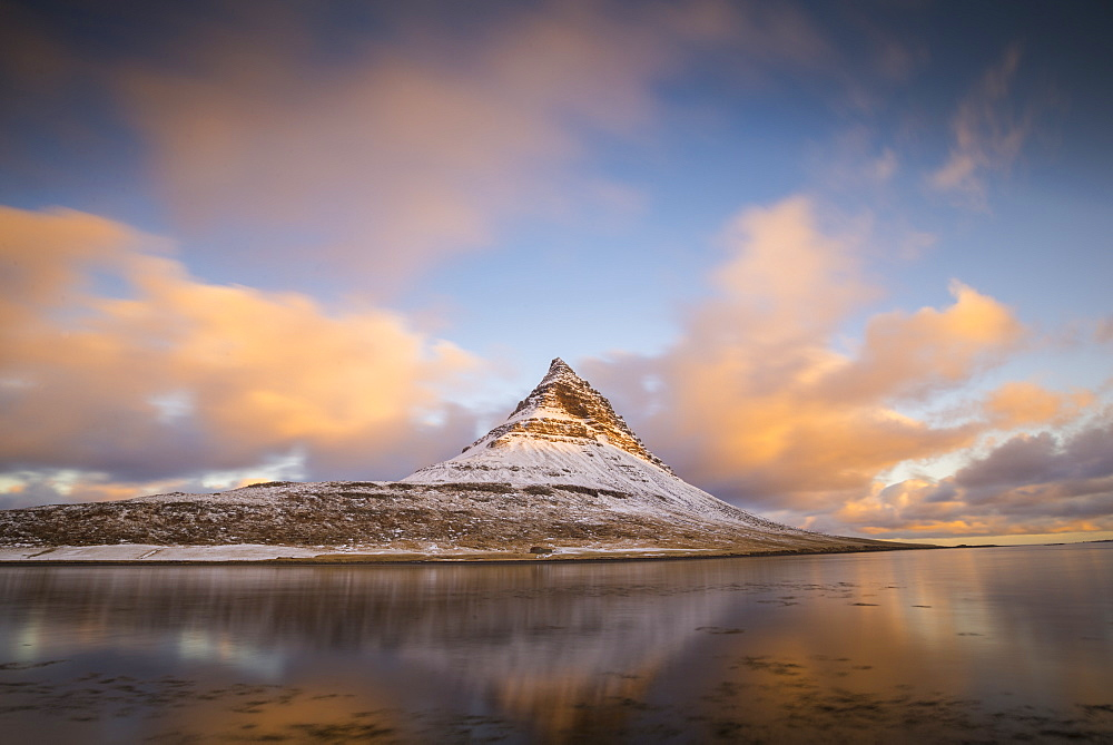 Sunrise at Kirkjufell Mountain, Snaefellsnes Peninsula, Iceland, Polar Regions - 1241-57
