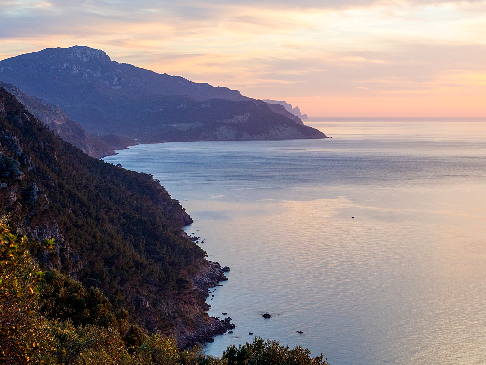 Coastline near Valdemossa, Mallorca, Balearic Islands, Spain, Mediterranean, Europe