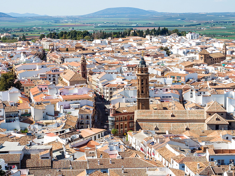 View from the hilltop fortress, Antequera, Andalucia, Spain, Europe - 1242-121