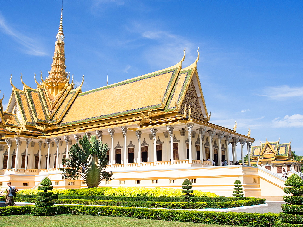 The throne hall at the Royal Palace, Phnom Penh, Cambodia, Indochina, Southeast Asia, Asia - 1242-207
