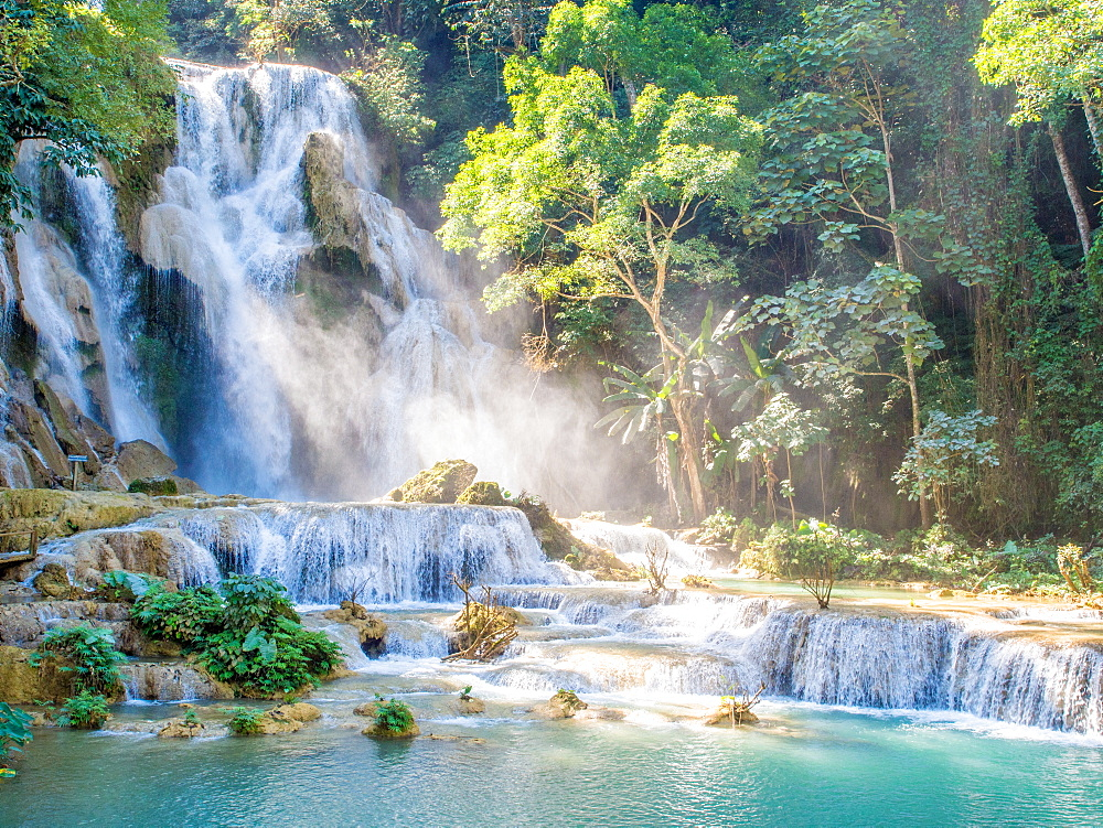 Keang Si waterfall, Luang Prabang, Laos, Indochina, Southeast Asia, Asia
