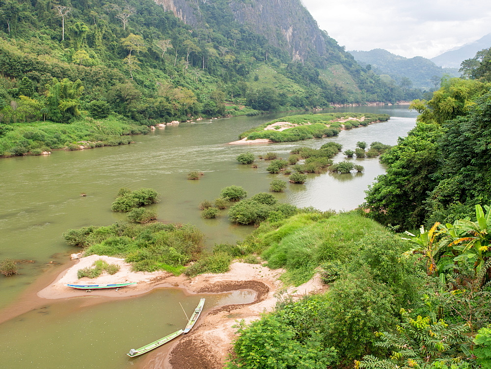 Nam Ou River, Nong Khiaw, Laos, Indochina, Southeast Asia, Asia - 1242-231
