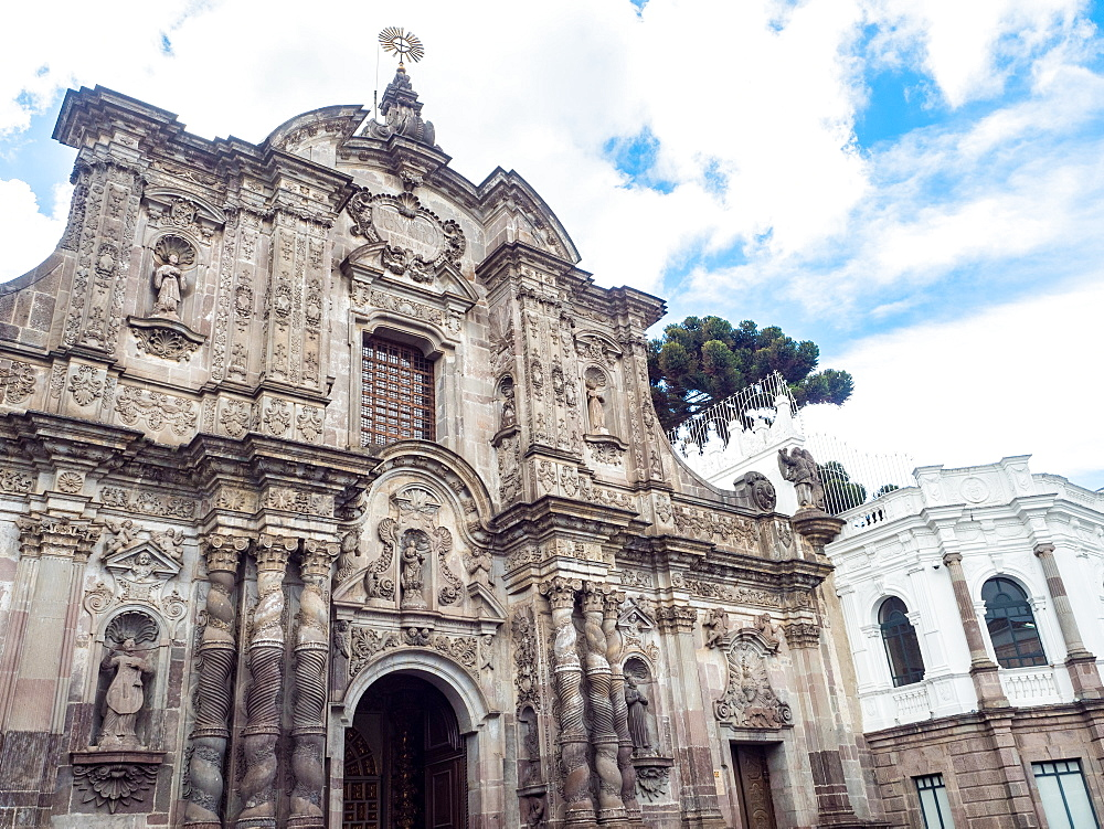 Compania de Jesus, 18th century Jesuit church, UNESCO World Heritage Site, Quito, Ecuador, South America